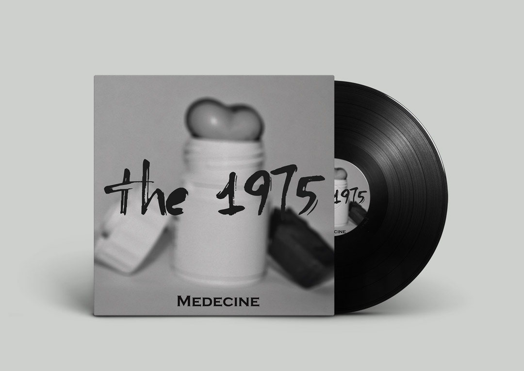 Front of cover of LP 'The 1975'