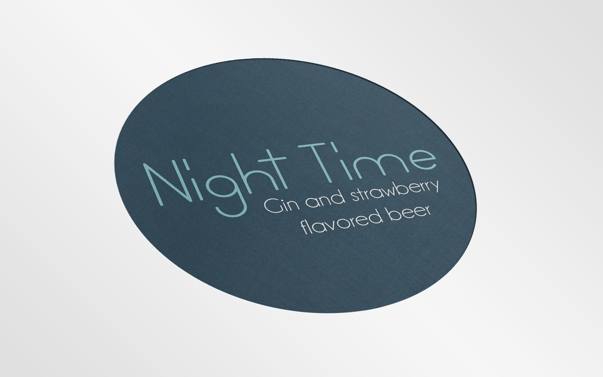IMD Beer: Night Time Gin and strawberry flavoured beer Logo