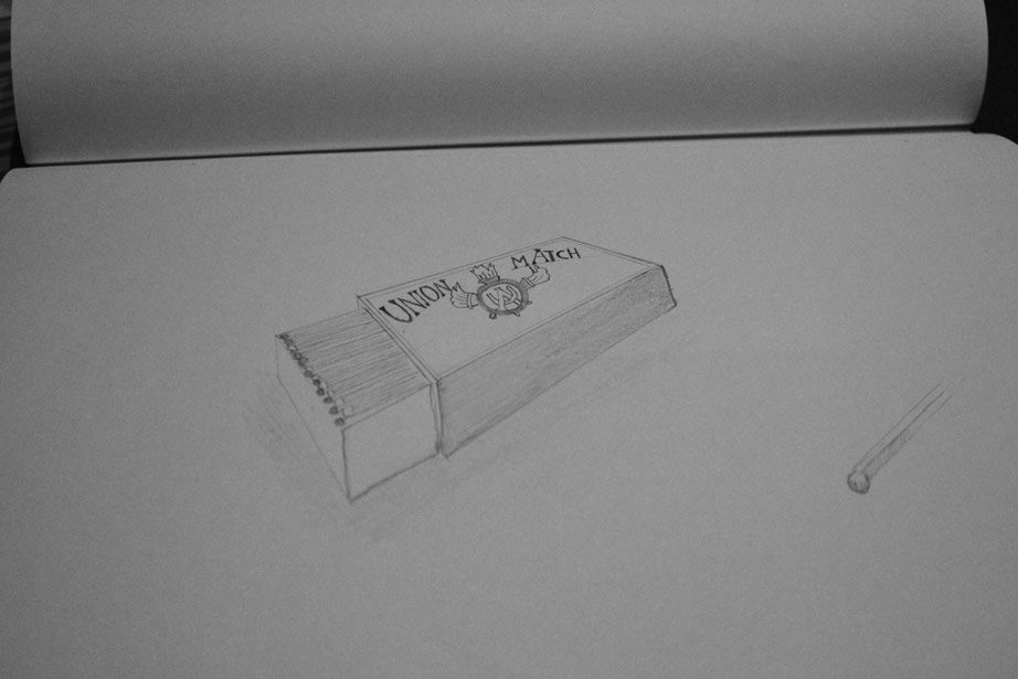 Drawing of matchbox (first one)