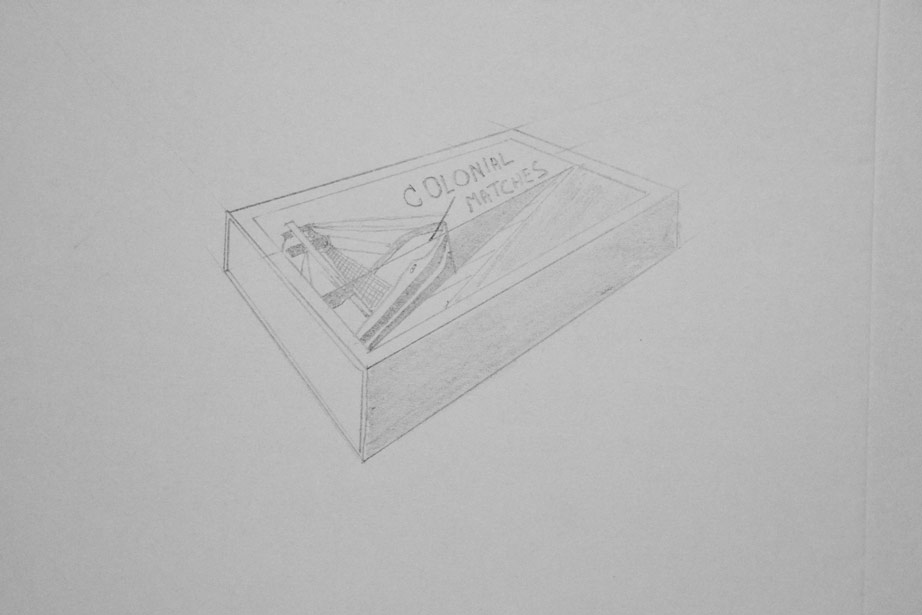 Drawing of matchbox (third one)